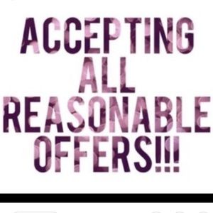 Reasonable offers accepted! Happy poshing!